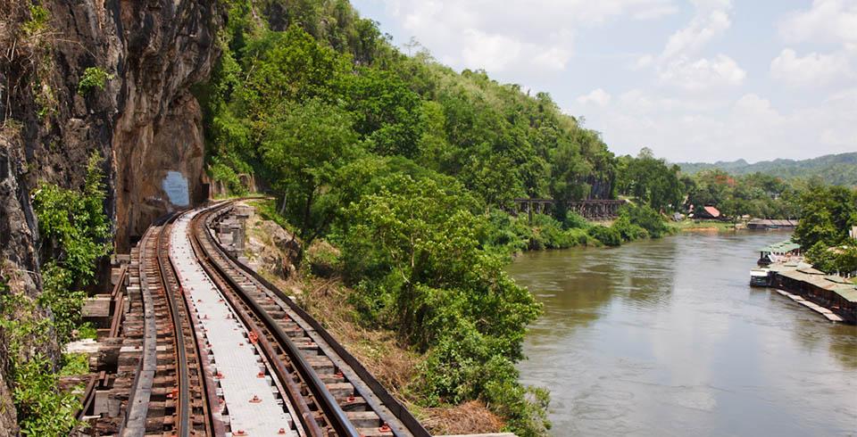 Thailandia con Bangkok y río Kwai