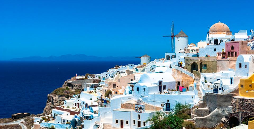 Atenas Con Santorini