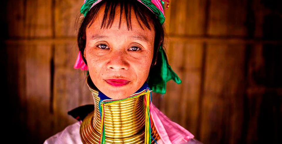 Thailandia con mujeres jirafa